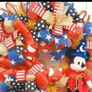 Mickey Mouse 4th of July Wreath